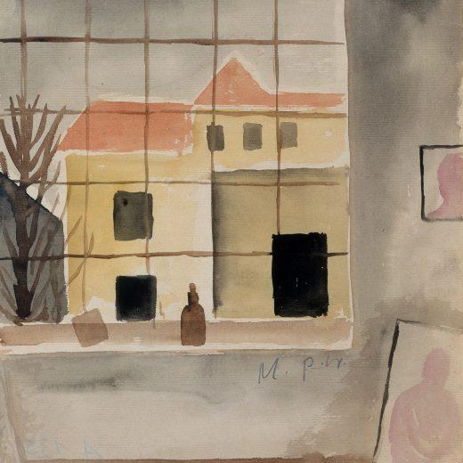 Weimar Blick aus einem Atelier, 1920