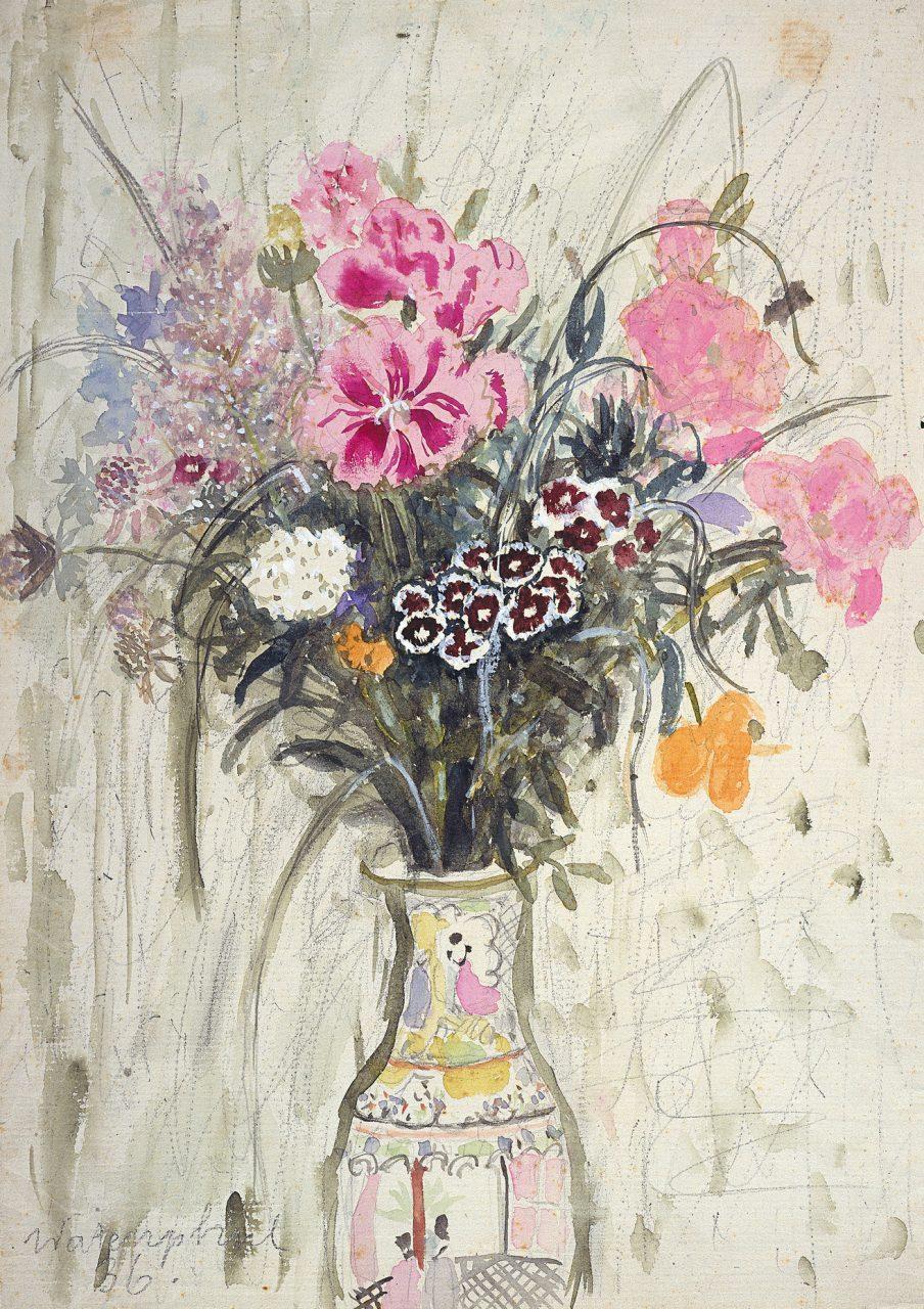 Blumenstrauß in chinesischer Vase