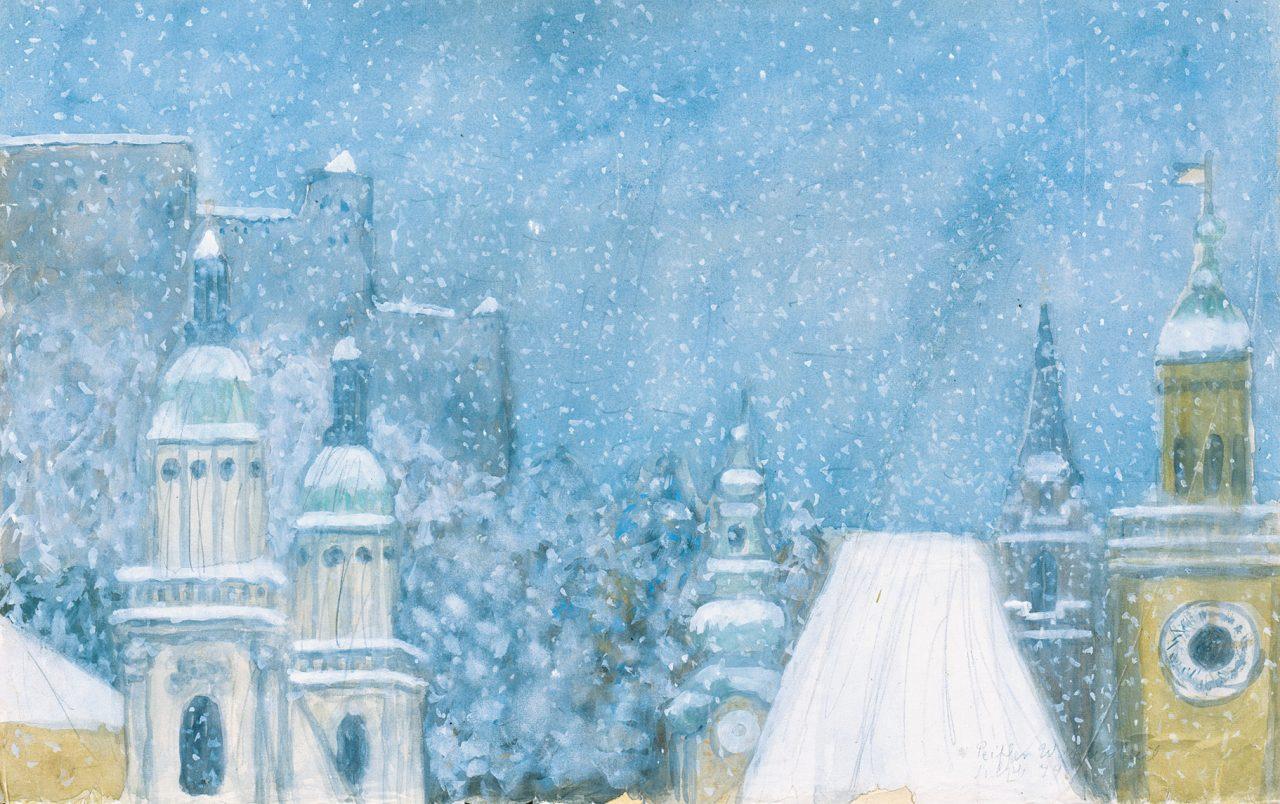 Salzburg Dächer im Schnee