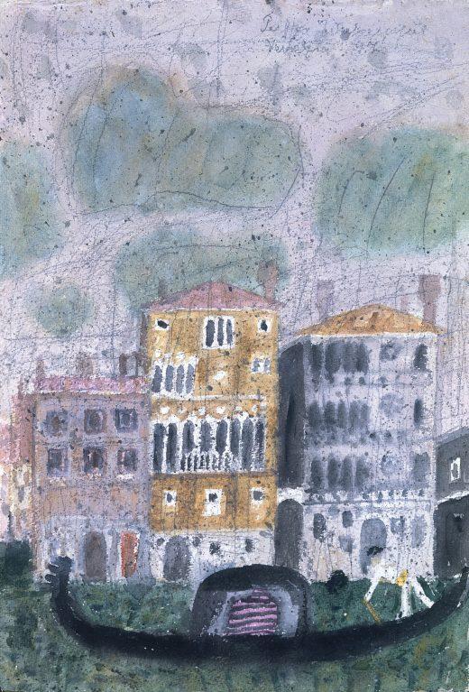 Venedig Gondel vor dem Palazzo Dario