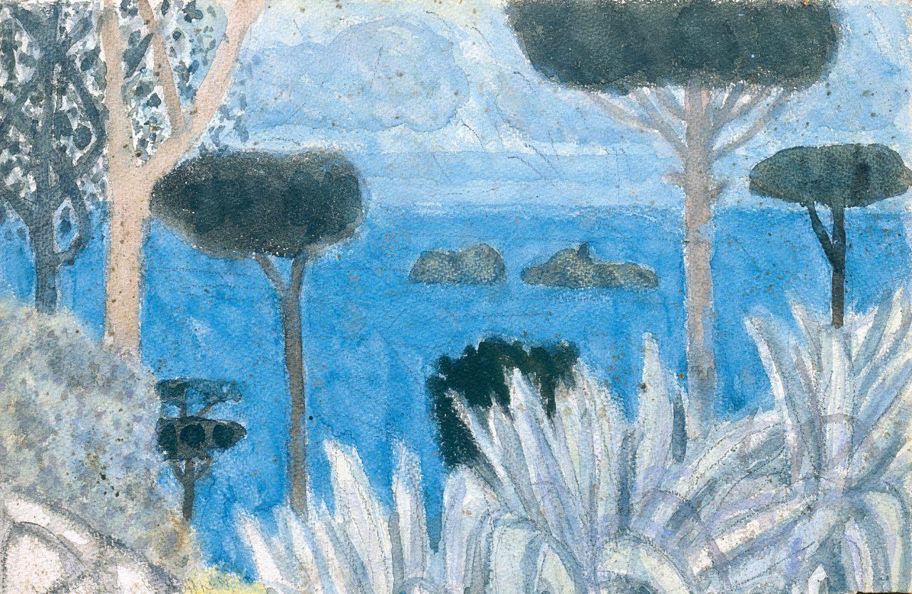 Landschaft bei Positano, 1954
