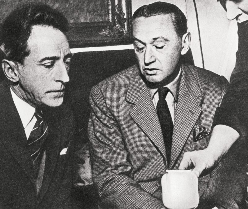 Max Peiffer Watenphul with Jean Cocteau during the exhibition at the Galerie Nebelung