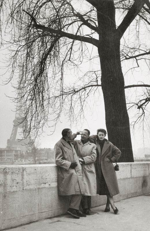 Max Peiffer Watenphul mit Wolfgang und Helga Bingel in Paris