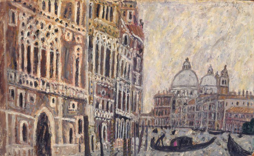 Venedig, Canal Grande mit Blick auf San Maria della Salute