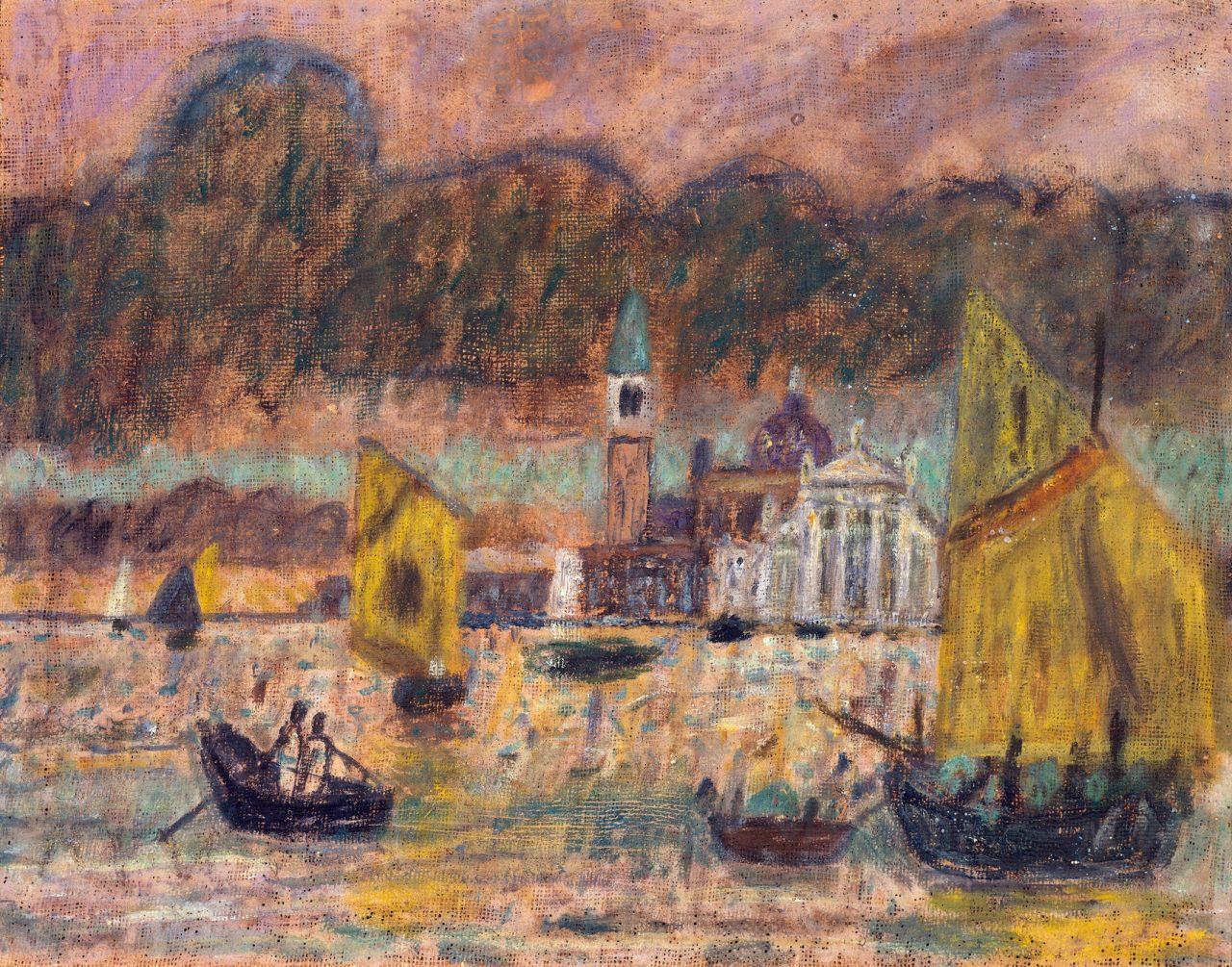 Venedig, Gewitter vor San Giorgio