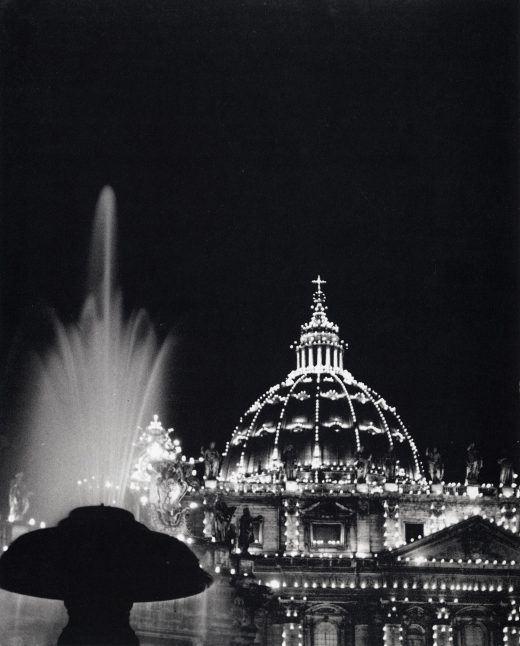Rome, St. Peter's by Torchlight